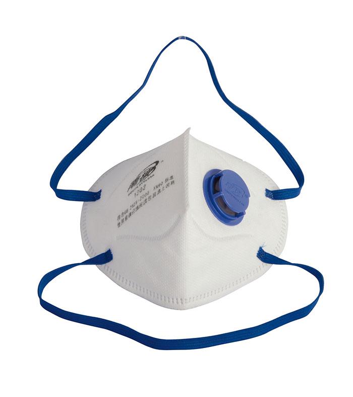 带阀折叠式颗粒物防护口罩(头戴式)
