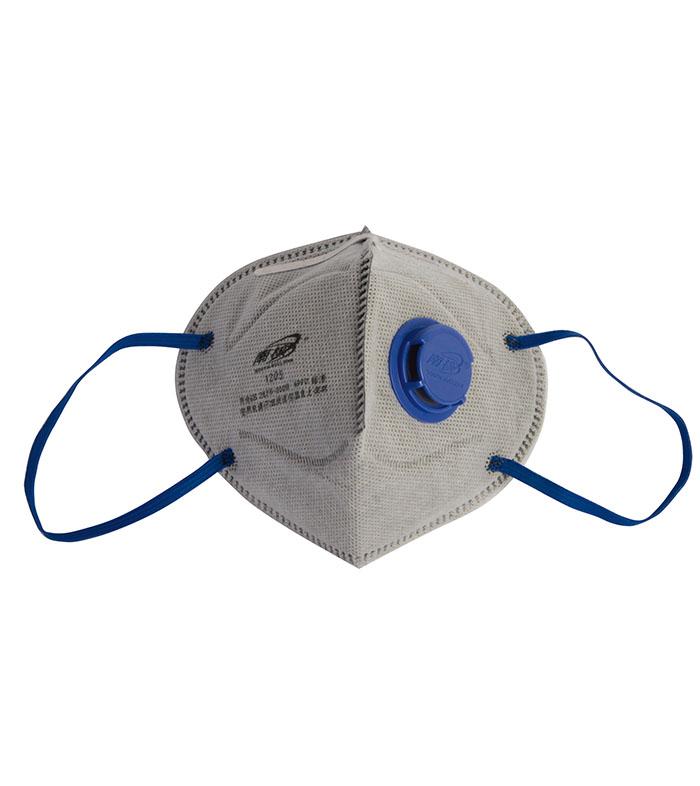 带阀折叠式有机蒸气异味及颗粒物防护口罩(耳戴式)