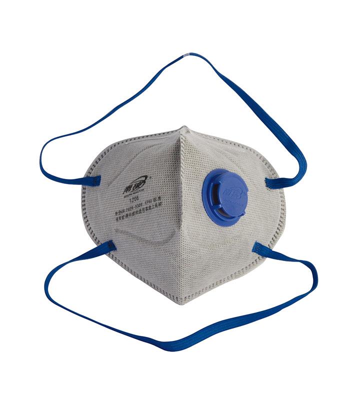 折叠式有机蒸气异味及颗粒物防护口罩(头戴式)