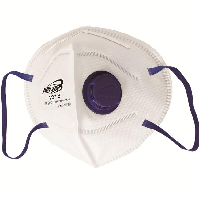 带阀折叠式颗粒物防护口罩(耳戴式)